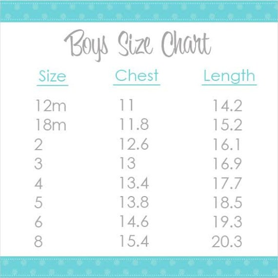 Boy 39 S Shirt Size Chart Visual Information Only Please