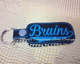 Bruins - In The Hoop - Snap/Rivet Key Fob - DIGITAL EMBROIDERY DESIGN