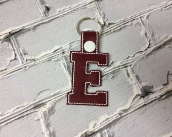 "2 Inch Letter ""E"" SNAP Key Fob In The Hoop - DIGITAL Embroidery DESIGN"