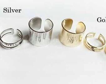 rings set - 3 piece ring set - modern ring set - game of thrones ring style
