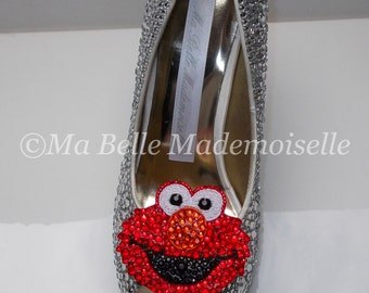 Elmo Rhinestone Shoe's, Elmo Shoes, Elmo Heels, Elmo Pumps