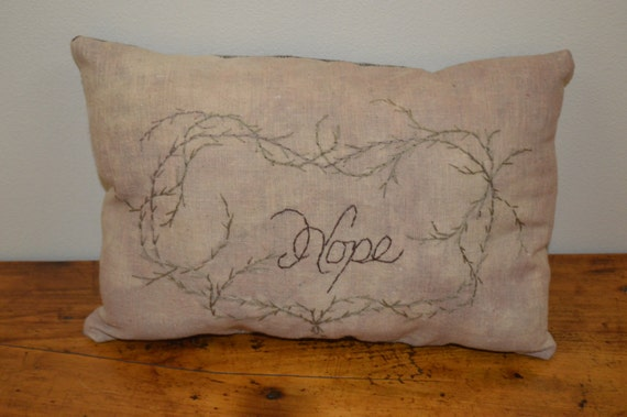 Hope Decorative Pillow : Hope Pillow Throw Pillow Home Decor Accent Pillow by SuesAkornShop
