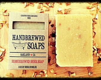 Beer Soap- Orange Ale Homebrewed Beer Soap- Father's Day, Beer lover, Gift for Him, Stocking Stuffer