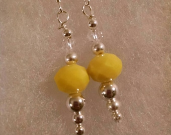 Yellow Dangle Earrings Item No. 62
