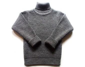 Babies/Children's Virgin wool turtleneck sweater/jumper/cardigan/toddler/high neck/pullover/polo neck