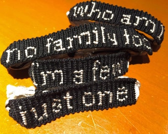 "Orphan Black ""just one"" - Individual Bracelets"
