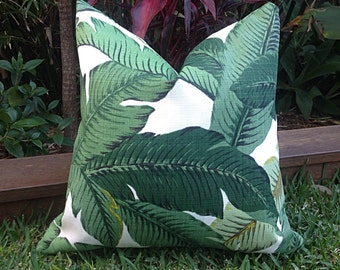 Palm Leaf Cushions, Banana Leaf Outdoor Cushions, Outdoor Pillows Tropical Pillow Covers, Cushion Covers,  Tropical Pillows