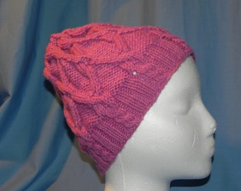 Truly Pink Slouchy Beanie