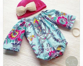 Long-Sleeve Baby Playsuit