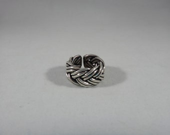 Owl ring, women silver burnished 925