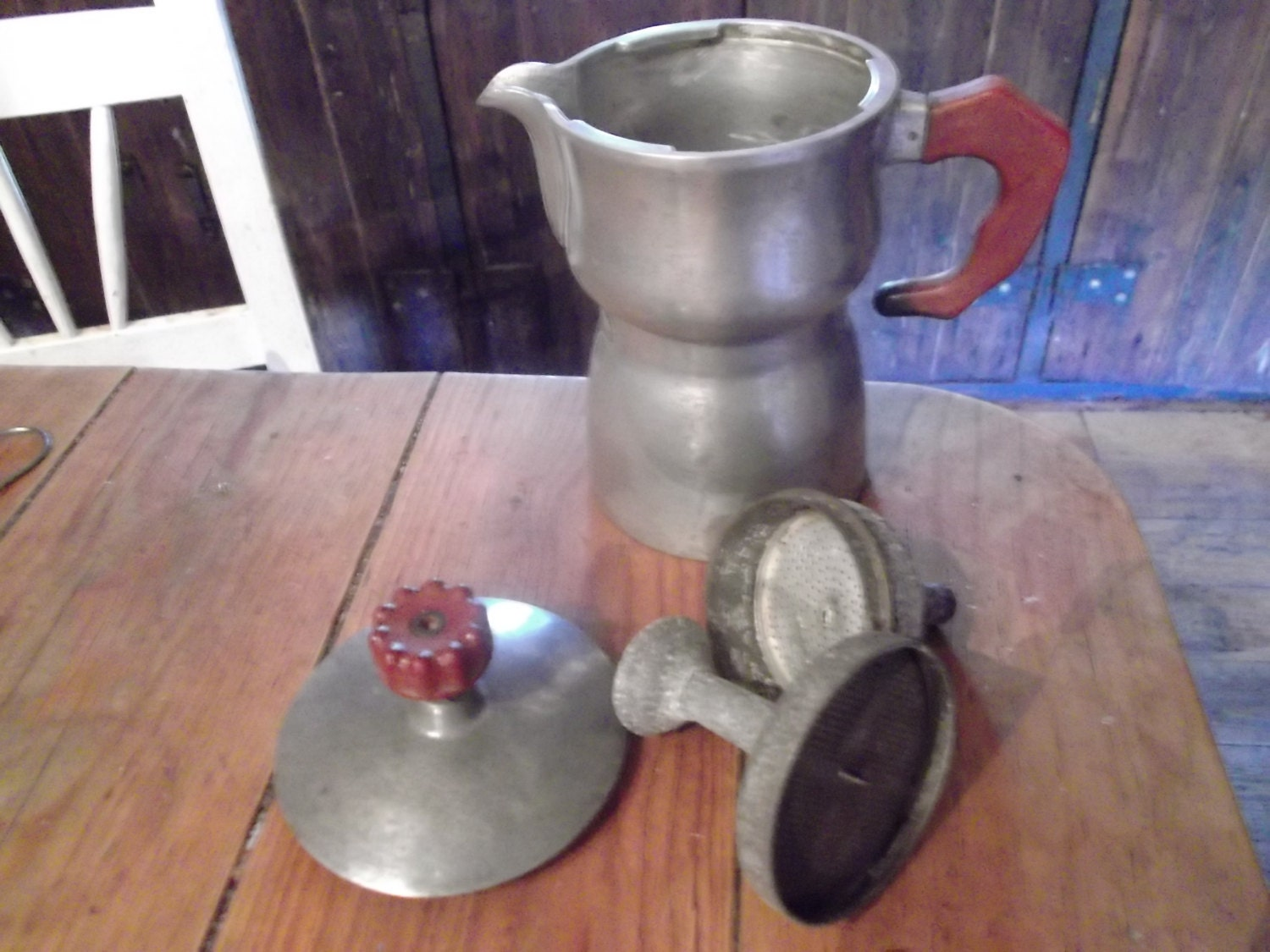 Antique Italian Coffee Maker : antique ITALIAN ESPRESSO MAKER barista collectibles