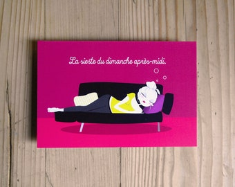 "Postcard ""The Sunday afternoon nap"""