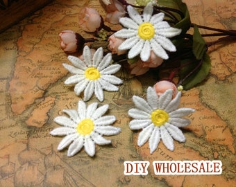 5 pcs Venice Lace Daisy Flowers Lace Appliques Patches