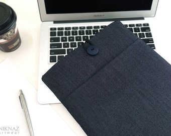 macbook pro sleeve, MacBook Air sleeve, MacBook pouch, Padded with Pocket.