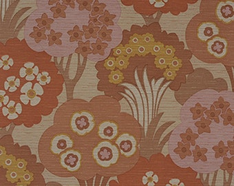 PINK DANISH ORIGINAL Mid Century Modern Botanical Trees Wallpaper 1960s 70s