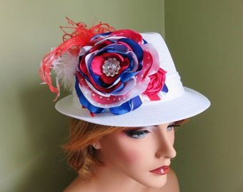 Ladies Patriotic Fedora