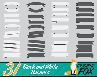 banner clipart, party banner clipart, white ribbon banner, banner clip art, ribbon banner, digital ribbons, white banner clipart, banners