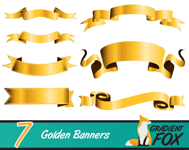 7 High Resolution Royal Golden Printable Digital Banner