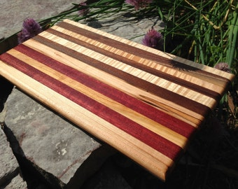 Handmade Exotic Wood Snack Caddy Board ***FREE SHIPPING***