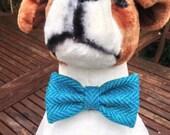 Harris Tweed Bow Tie - The Harry bow tie, Herringbone, dog accessory, canine bling