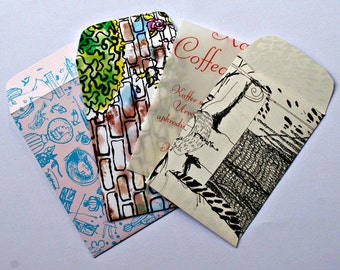 Upcycling sachets from book pages (6 Pack)
