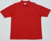 Yves Saint Laurent Shirt Men XLarge Red YSL Polo Shirt