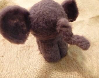 Handmade Felted Wool Elephant