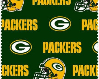 """Green Bay Cotton Fabric  60"""" wide- Fabric by the yard"""