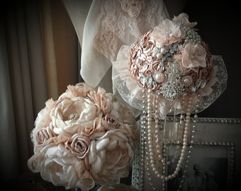 Bridal bouquets in pastel colors