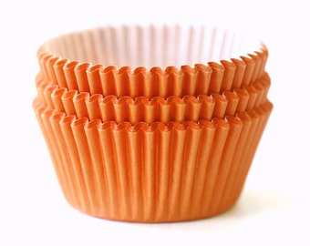 Solid Orange Cupcake Liners