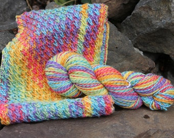 Rainbow Twist - Hand Painted Merino Yarn - Twist