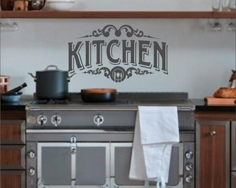 Kitchen Wall Decal - Kitchen Decor - Wall Decal - Vinyl Decal - Wall Art - Kitchen Decal - Decals - Available in Multiple Sizes and Colors.