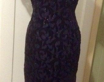 Vintage Bombshell sequin fringe dress