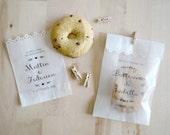 Kit 10 sacchetti per confettata personalizzati - carta pergamino