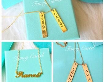 Fancy Name Plaque Necklaces