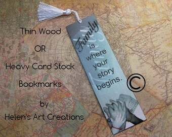 Father's Day Bookmark, Mother's Day, Grandparents, Personalized Bookmark, Wedding Bookmark, Wood Bookmark, Custom Bookmark, Wedding Favors