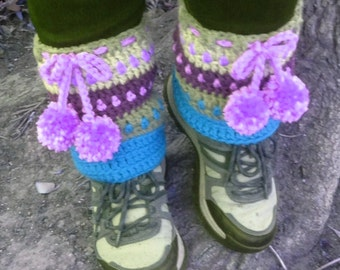 Crochet Pattern * Track Boot Cuffs & Leg Warmers * Instant Download Pattern #452 * baby/toddler, child, teen, adult sizes * easy * pompoms