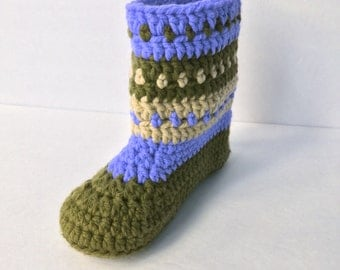 Crochet Pattern * Charlie Boots for Teens and Adults * Double sole * PDF Instant Download pattern #460 * easy and fast