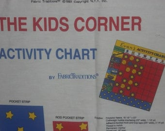 THE KIDS CORNER Activity Chart Fabric Panel