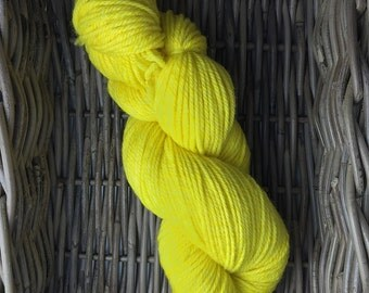 "Variegated: Merino & Superwash Merino -DK Weight.- ""Just Lemon"""