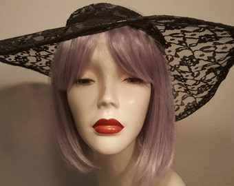 FREE  SHIPPING  Large Brim Lace Hat