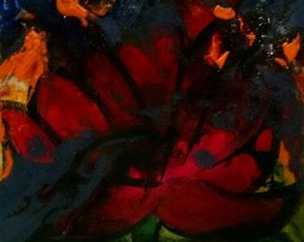 Original Mixed Media Art - Lotus II