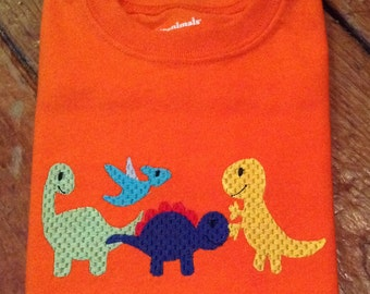 Dinosaurs Embroidered T-shirt