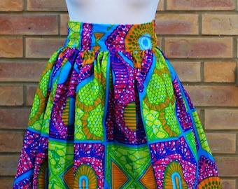 African print high waist skirt, Ankara print skirt, African print skirt