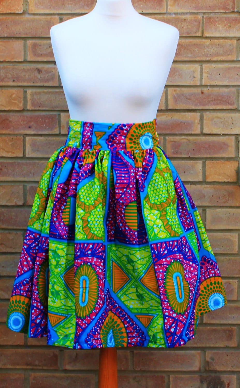 print high waist skirt ankara print skirt