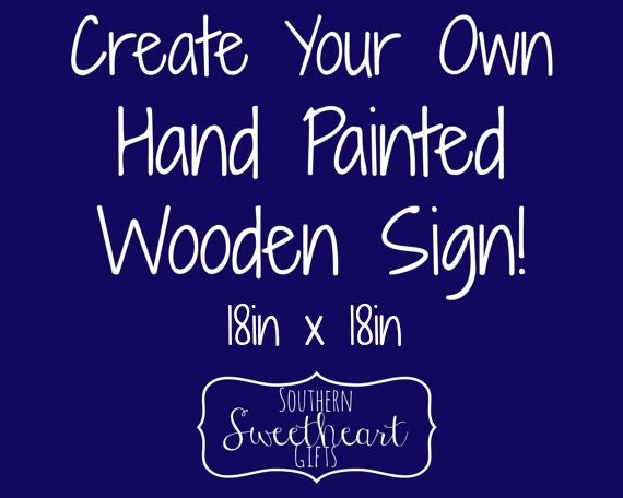 Create Your Own Customized Hand Painted By