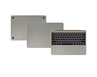 "Macbook 12"" DECAL Sticker Skin Kit 3M Metal series by Stickerboy-Set 2"