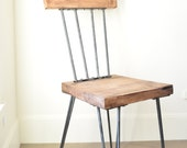 Rustic Industrial Solid Maple Hairpin Dinning Chair Life Time Warranty