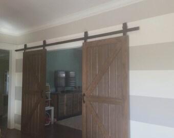 industriel classic coulissant porte de grange placard mat riel. Black Bedroom Furniture Sets. Home Design Ideas