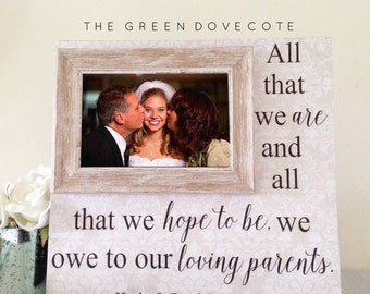 Mother Of The Bride Gift - Father Of The Bride Gift - Parents Of Bride Gift - Gift For Parents - Parents Wedding Gift - Wedding Gift Parents